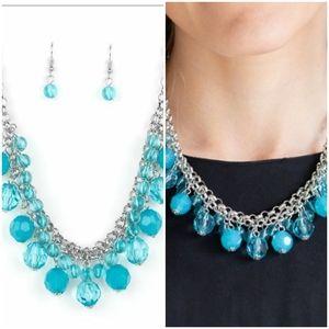 FIESTA FABULOUS BLUE NECKLACE/EARRING SET